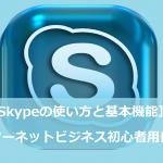 【Skype(スカイプ)の使い方と基本機能】インターネットビジネス初心者用に解説